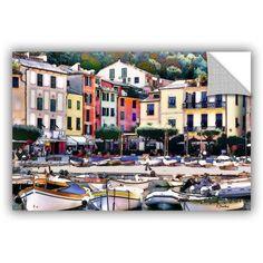 ArtAppealz Linda Parker Italy: Sunny Portofino Removable Wall Art, Size: 32 x 48, Green