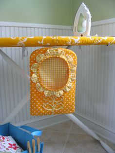 Hemma Design Karin Laundry Room Patterns: Ultimate Ironing Board Cover & Sunflower Clothespin Bag