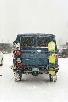 4x4 Van in Snow
