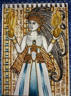 Inanna is the Sumerian goddess of sexual love, fertility, and warfare. Her Akkadian counterpart is Ishtar Goddess Art, Goddess Of Love, Ancient Goddesses, Gods And Goddesses, Ishtar Goddess, World Mythology, Sacred Feminine, Divine Feminine, Ancient Mesopotamia