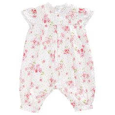 Buy Emile et Rose Hilary Floral Playsuit, Pink Online at johnlewis.com