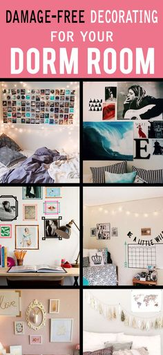When it comes to dorm decorating, there are a lot of rules that are enforced differently depending on the school. For the most part, leaving behind damaged walls is highly frowned upon by residential life—take it from someone who's been there, a...
