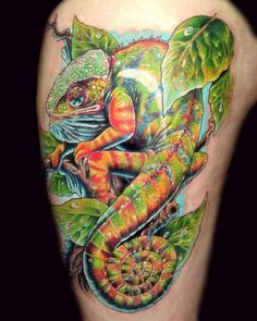 chameleon tattoo