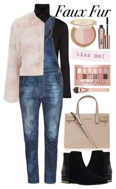 """""""Cropped Faux Fur Coats"""" by alaria ❤ liked on Polyvore featuring mode, Y-3, Kurt Geiger, Tortoise, RED Valentino, Too Faced Cosmetics, Benefit, Maybelline, women's clothing en women"""