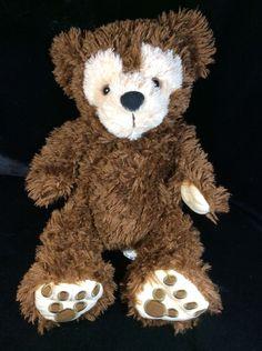 "Disneyland Hidden Mickey Pre Duffy Chocolate Brown Plush 17""  Bear Disney"