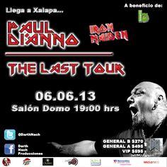 La leyenda del Heavy Metal. #Xalapa #PaulDiAnno #Veracruz #HeavyMetal #IronMaiden