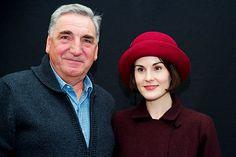 Jim Carter and Michelle Dockery on the Downton Abbey Set Season Series 6