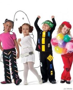 Fun costumes for the kids, no sewing for you!