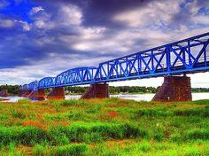 The railway bridge between Haparanda (Sweden) and Tornio (Finland)