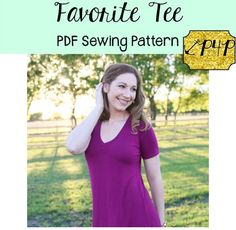 The Favourite tee sewing pattern by designer Patterns for Pirates - find our more and read reviews of this dressmaking pattern here!