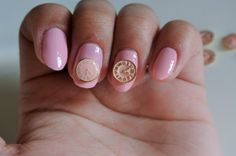 2 pcs pink clock nail charm steampunk nails by GlamourFavor
