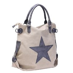 Women Star Canvas Tote Handbags Retro Shoulder Bags Capacity Shopping  Crossbody - US 33.99 Borsette Alla ff431f27c822