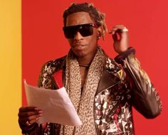 Young Thug, a popular rapper, is very similar to Lucky in that he too has problems being understood when he talks. In Lucky's speech, his jumbled words and lack of any sensical structure made it very hard to make sense of what he was saying. Similarly, in most of Young Thug's songs and interviews, trying to understand what he's saying can be quite the task.