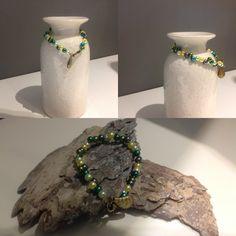 Leuke armband van gekleurde parels gemaakt#DIY