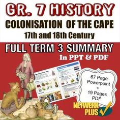 Grade 7 History - Term Colonisation of Cape and century - PPT + PDF Summary in English - Teacha! Visual Learning, Fun Learning, Class Presentation, Social Studies Worksheets, Social Science, Summary, Teaching Resources, 19th Century, Cape