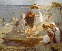 The Beach ~ Laura Knight ~ (English 1877-1970)
