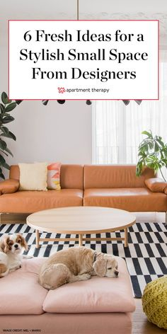 If you want to live large in your own small space, try these decorating moves to make your tight quarters feel practically palatial. #smallspace #smallspaces #homedecor #designtrends