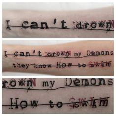 Bring Me The Horizon lyrics tattoo