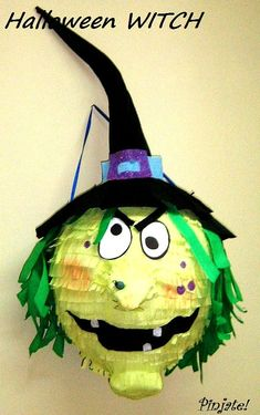 Piñata bruja de HALLOWEEN  piñata de Halloween regalo de Halloween Birthday, Pinata Halloween, Cute Halloween, Halloween Gifts, Holidays Halloween, Vintage Halloween, Halloween Crafts For Kids, Halloween Witches, Creepy Halloween Decorations