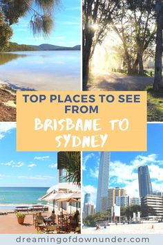 This useful Sydney to Brisbane road trip guide includes the top attractions in east coast Australia, driving distances, accommodation and popular towns such as Port Macquarie, Coffs Harbour and Byron Bay as well as quieter spots. #roadtrip #australia #queensland #newsouthwales Sydney Australia Travel, Roadtrip Australia, Coast Australia, Queensland Australia, Cities In Wales, Things To Do In Brisbane, Sydney Beaches, Port Macquarie, East Coast Road Trip
