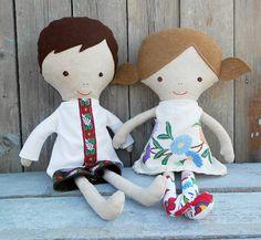 FABRIC DOLLS, folk dolls, ragdolls, cloth dolls, pair doll, 18inch doll, dress up doll, twin doll, ethnic dolls, soft toy, soft doll, dolls