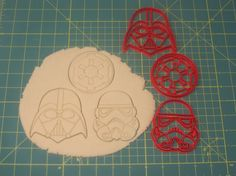Star Wars Galactic Empire Set of 3 Cookie Cutters by Star Wars Cookie Cutters, Star Wars Cookies, Empire Cookie, Little Man, Cookie Decorating, Stencils, Nerd, Party Ideas, Stars