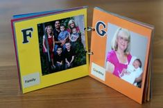DIY ABC and Number Books-Personalized with pictures. So cute!!! :)