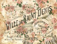 Printable 300dpi Shabby wallpaper Antique Parisian by RalphPia, $1.20