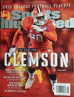 clemson sports illustrated college football playoff special issue shaq lawson from $19.99