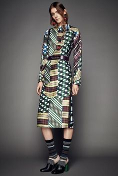 """the-prints-community: """"Marni, Look #4 http://www.style.com/slideshows/fashion-shows/pre-fall-2015/marni/collection/4 Marni, Look #4 """""""