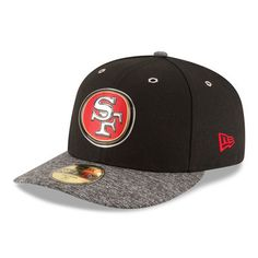 5911066f76a New Era San Francisco 49ers Black Heathered Gray 2016 NFL Draft Shadow Tech  Low Profile