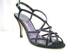 fc7444c4981135 Delman Selma High Heel Sandal Sz 5.5 Black Strappy Sexy NEW NIB Women s  Dress High Heels