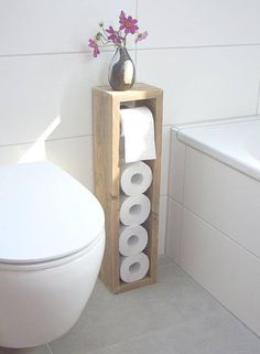 Toilet paper holder toilet paper rack toilet paper holder Klorollen holder Toilettenpapierhalter Toilettenpapierständer Klopapierhalter The post Toilet paper holder toilet paper rack toilet paper holder Klorollen holder appeared first on Wood Diy. Wc Decoration, Toilet Paper Stand, Wood Toilet Paper Holder, Toilet Roll Holder Diy, Toilet Paper Dispenser, Bathroom Interior Design, Bathroom Designs, Bathroom Storage, Toilet Storage