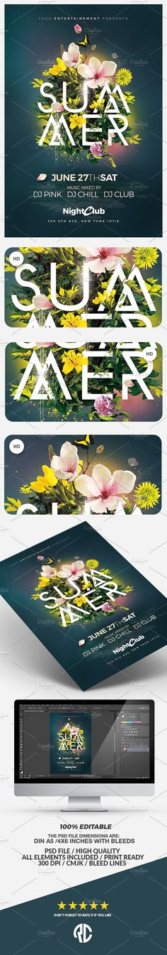 "Summer Party | Psd Flyer Template "" Creative Graphic perfect to promote your Next Event !"