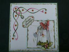 Borduurkaart kerst