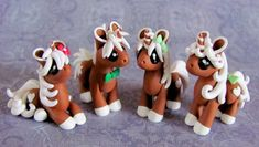 Gingerbread Unicorns by *DragonsAndBeasties #Christmas #polymerclay