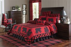 Go to Black Forest Decor right now and look at our fine inventory of rustic bedding, which includes this Queen Size Buffalo Check Quilt! Plaid Bedding, Quilt Bedding, Bedding Sets, Plaid Quilt, Black Bear Decor, Black Forest Decor, Rustic Quilts, Rustic Bedding, Buffalo Check Bedding