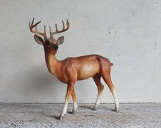 Large Vintage Celluloid or Plastic Deer by shavingkitsuppplies, $21.00