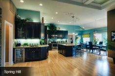 Layout for entertaining:Schumacher Homes Custom Kitchens by Schumacher Homes