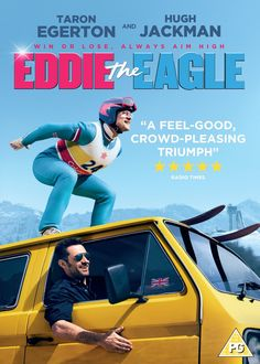 """Eddie The Eagle (2016) directed by Dexter Fletcher, starring Taron Egerton, Hugh Jackman, Christopher Walken and Tim McInnerney. """"The story of Eddie Edwards, the notoriously tenacious British underdog ski jumper who charmed the world at the 1988 Winter Olympics."""""""