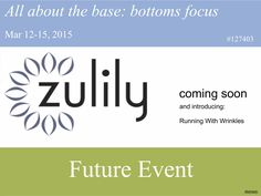 Our activewear will be showcased on Zulily for a 3 day event March 12-15!