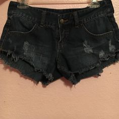 Billabong dark wash frayed shorts Cute frayed shorts from billabong. Size 26 with a semi relaxed fit (not super tight). No damages, great condition no trades for these! Billabong Shorts Jean Shorts