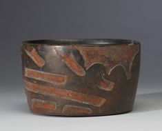 Carved Bowl with Olmec Dragon Motif
