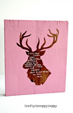 DIY Deer Topography Sign