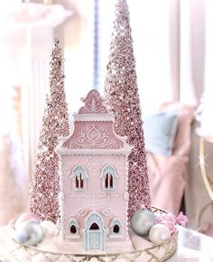 Pink Christmas, A Christmas Story, Christmas Crafts, Christmas Ideas, Winter Holidays, Happy Holidays, Cool Gingerbread Houses, Asian Bridal Dresses, Christmas Aesthetic