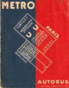 Paris Metro map or plan cover, by Editions Baneton, c. 1945 by mikeyashworth on…