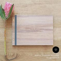 Working with unique Tasmanian timbers I create traditional wedding guest books + guest book alternatives. When you receive your guest book you will be holding real Tasmanian timber in your hands. You can lightly smell the natural wood (wood sourced from sustainable managed
