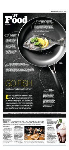 Union Tribune San Diego Food Go Fish food #Newspaper layout