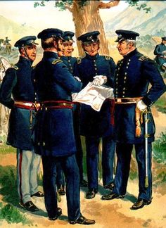 picture of Major-General, rt., with Staff and Line Officers in Undress uniform