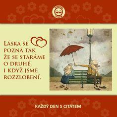 citáty - Láska se pozná tak, že se